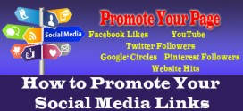 Promote Your Social Media Links – Facebook Google Twitter Youtube